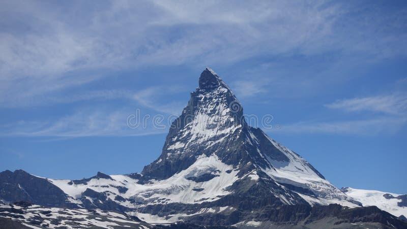 Matterhorn Szwajcaria Halny niebieskie niebo obraz stock