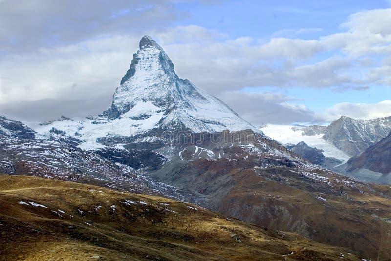 Matterhorn van Gornegrat stock afbeelding