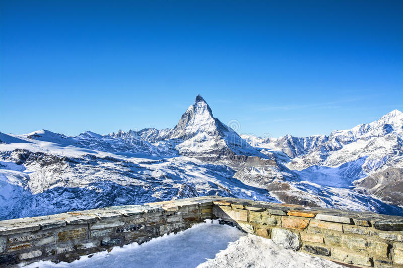 Matterhorn, View from Zermatt stock photo