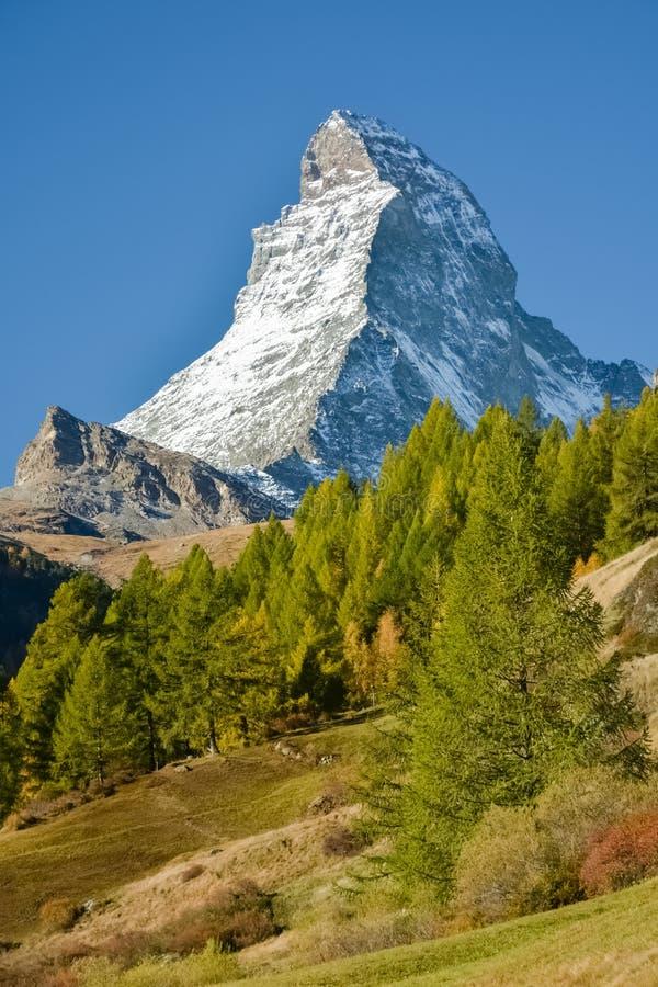 Matterhorn, waarschijnlijk de beroemdste berg stock afbeeldingen