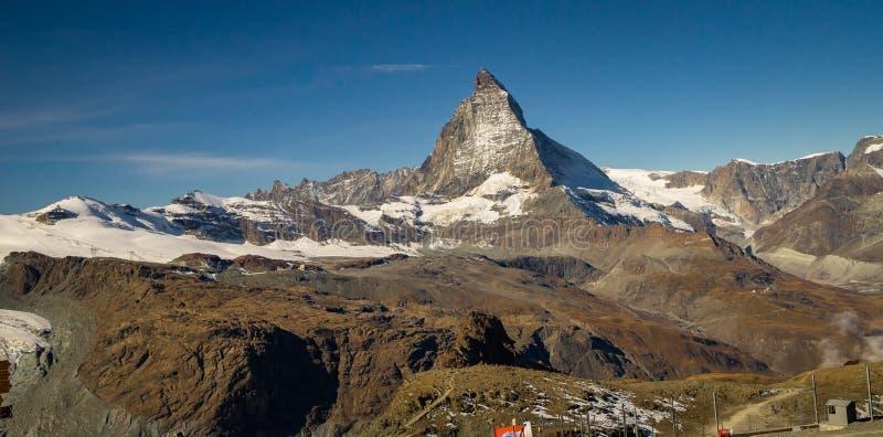 Matterhorn Zermatt die Schweiz lizenzfreies stockfoto
