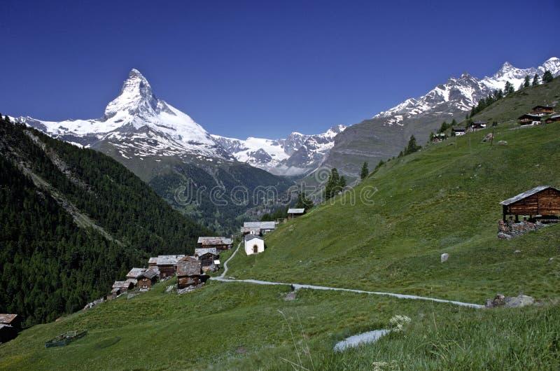 Matterhorn, Zermatt, die Schweiz lizenzfreie stockbilder