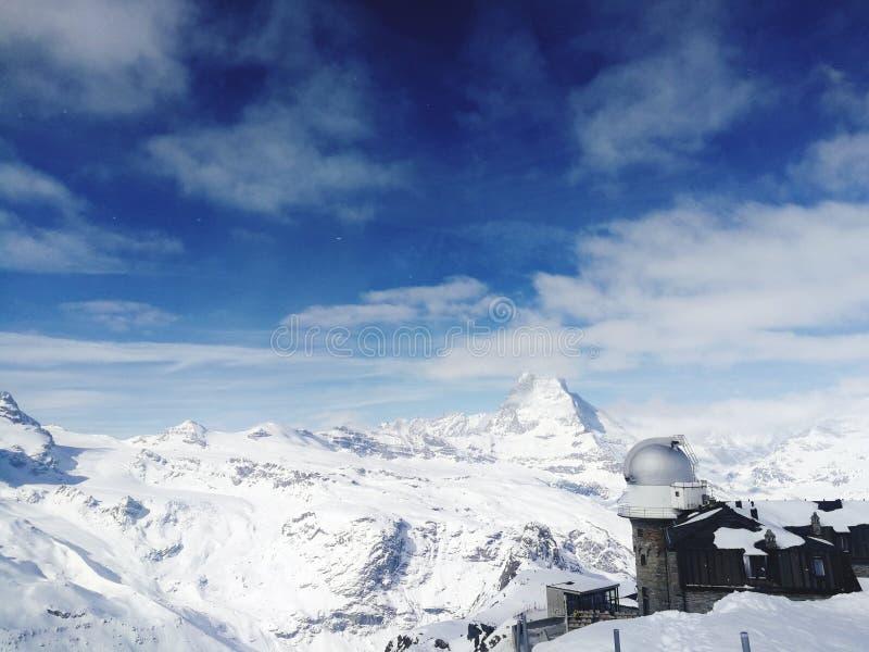 Matterhorn, Zermatt, Zwitserland stock afbeeldingen