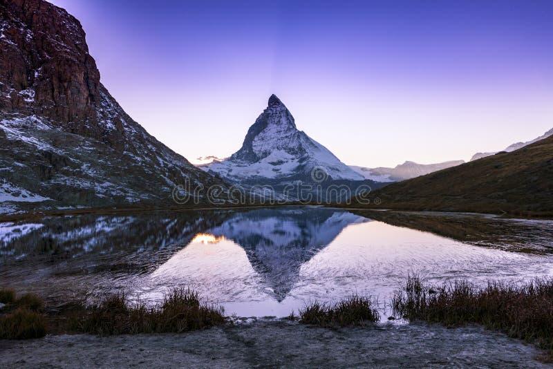 Matterhorn, Zwitserland royalty-vrije stock foto's