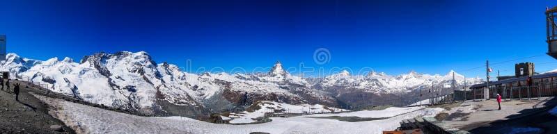Matterhornpanorama royalty-vrije stock afbeeldingen
