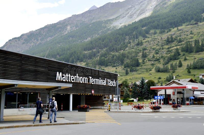 Matterhornterminal tasch stock afbeelding