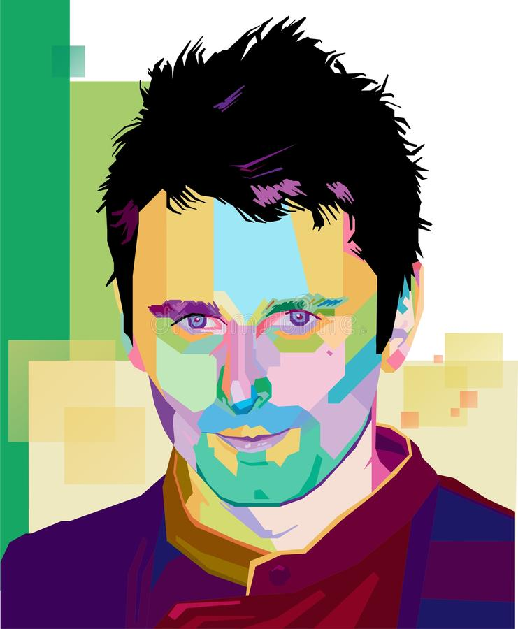 Matthew Bellamy illustration de vecteur
