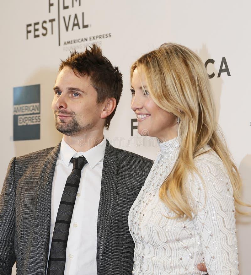 Matthew Bellamy i Kate Hudson obraz royalty free