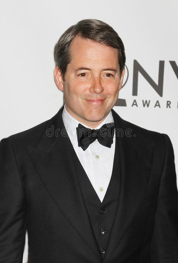Matthew Broderick. Dapper actor and previous Tony winner Matthew Broderick arrives on the red carpet for the 65th Annual Tony Awards at the Beacon Theatre in New stock photo
