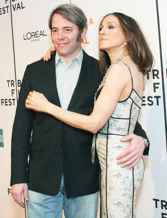 Matthew Broderick et Sarah Jessica Parker image libre de droits