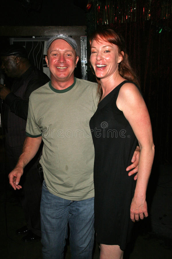 Matthew Cunningham and Jenny McShane at the birthday party for J. Nathan Brayley, Amagis, Hollywood, CA 05-18-08 royalty free stock image