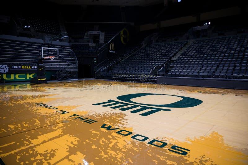 Matthew Knight Arena an der Universität von Oregon lizenzfreie stockbilder
