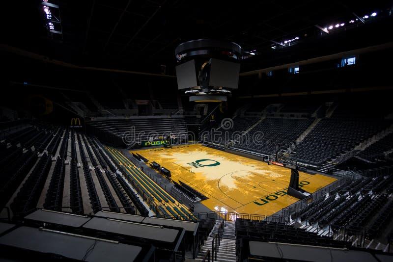 Matthew Knight Arena an der Universität von Oregon stockbilder