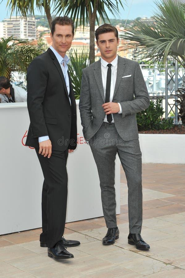 Matthew McConaughey & Zac Efron fotografie stock libere da diritti