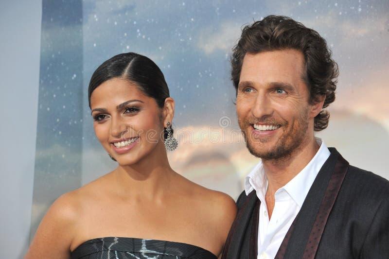 Matthew McConaughey & Camila Alves McConaughey zdjęcia royalty free