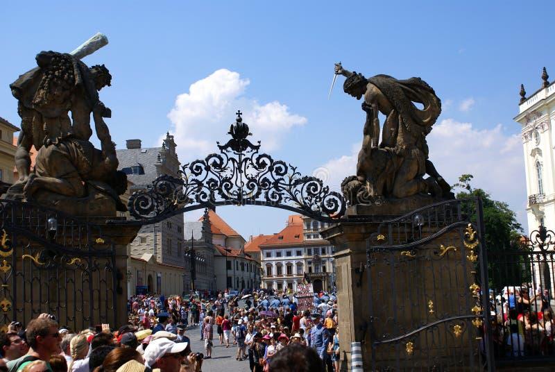 Matthias brama przy Hradcany kwadratem, Praga obrazy royalty free