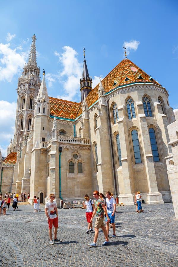 Matthias Church é uma igreja católica romana situada em Budapest, Hungria fotografia de stock