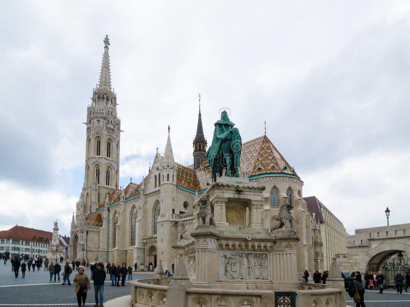 Matthias Church é uma igreja católica romana situada em Budapest, Hungria foto de stock