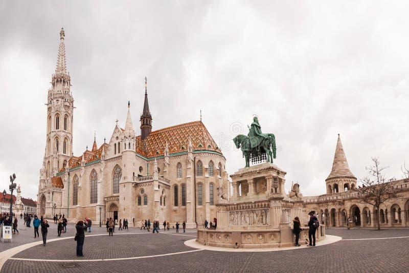 Matthias Church é uma igreja católica romana situada em Budapest, Hungria imagens de stock royalty free