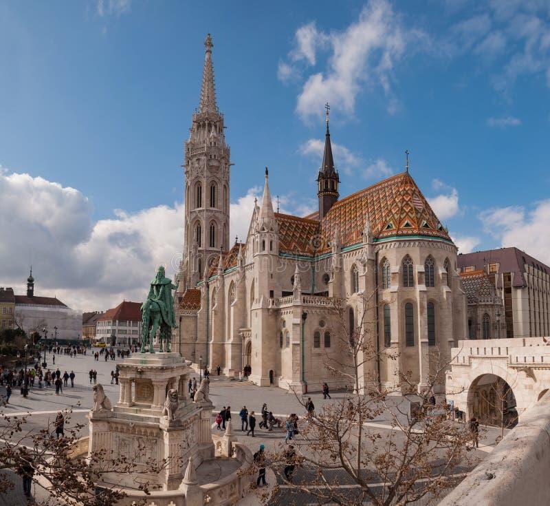 Matthias Church é uma igreja católica romana situada em Budapest, Hungria fotos de stock