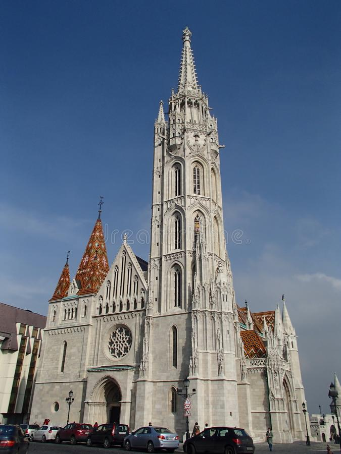 Matthias Church, Boedapest royalty-vrije stock foto