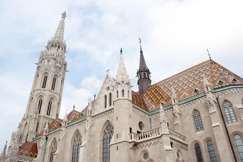 Matthias Church at Buda Castle, Budapest stock photo