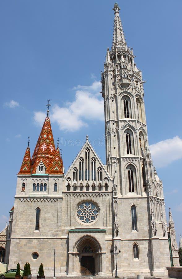 Matthias Church in Budapest stock image