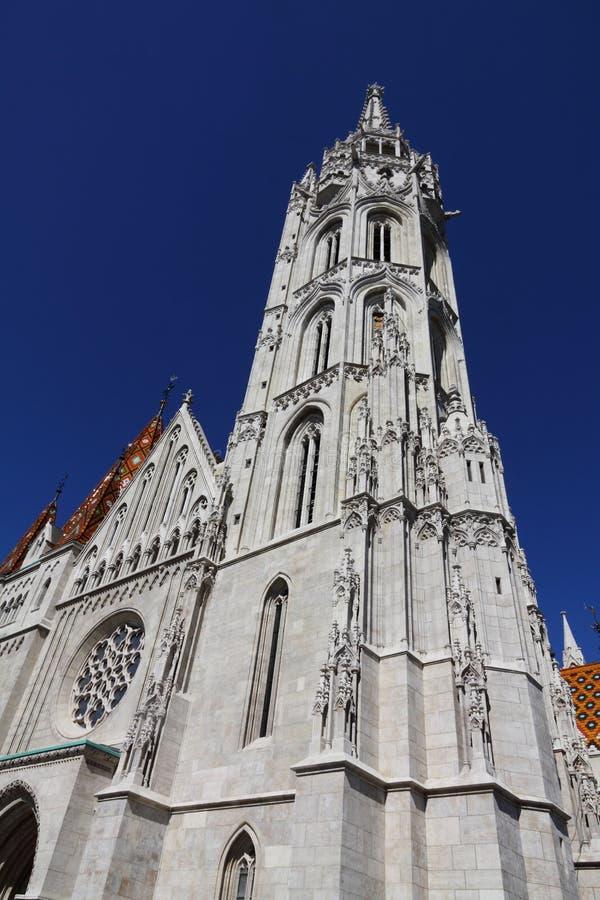 Matthias Church Budapest arkivbild
