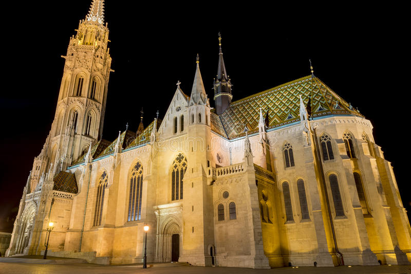 Matthias Church Budapest, Ungern fotografering för bildbyråer