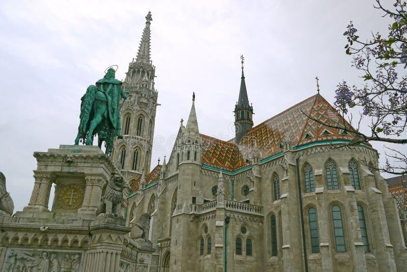 Matthias Church en Buda Castle, Budapest HUNGRÍA foto de archivo libre de regalías