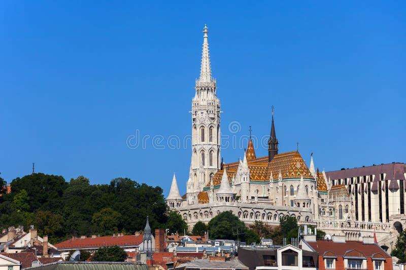 Matthias Church and Fisherman Bastion in Budapest stock image