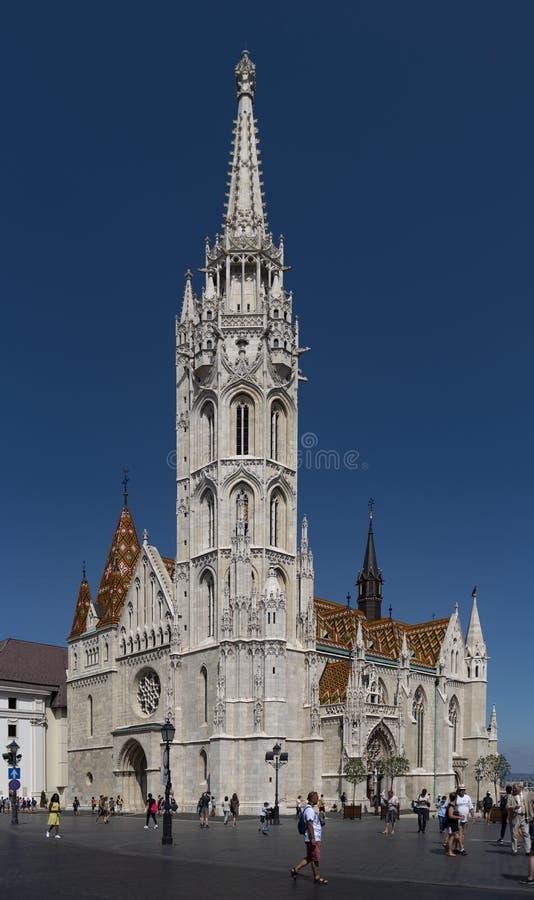 Matthias Church i Budapest royaltyfri foto