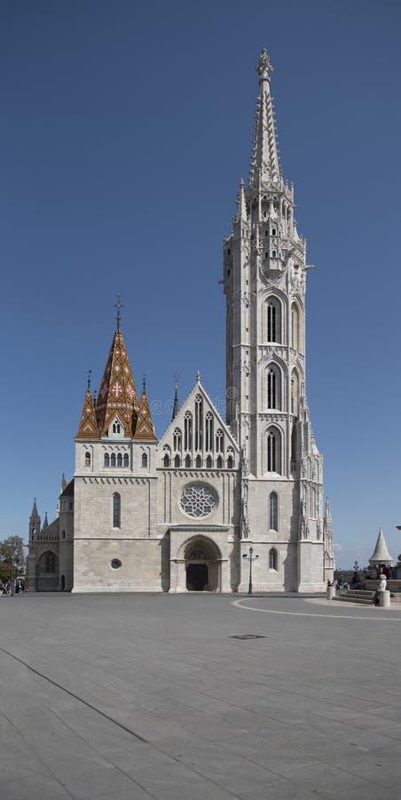 Matthias Church i Budapest arkivbild