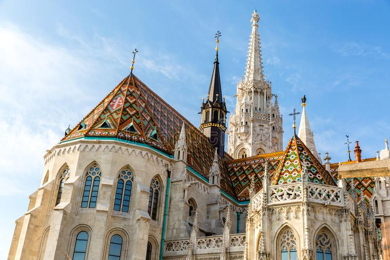 Matthias Church, Roman Catholic church located in Budapest Hungary at the heart of Buda castle district. Matthias Church, Roman Catholic church located in stock photo