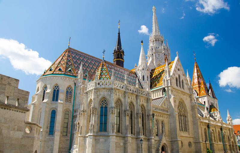 Matthias Church at Szentharomsag square in Budapest, Hungary stock image