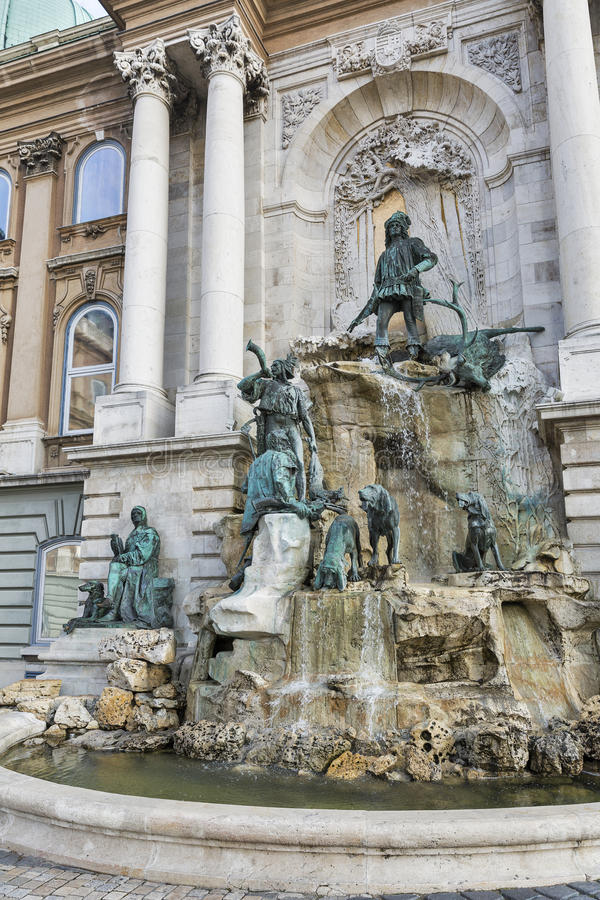 Budapest Castle Area Statue Royalty-Free Stock Photography