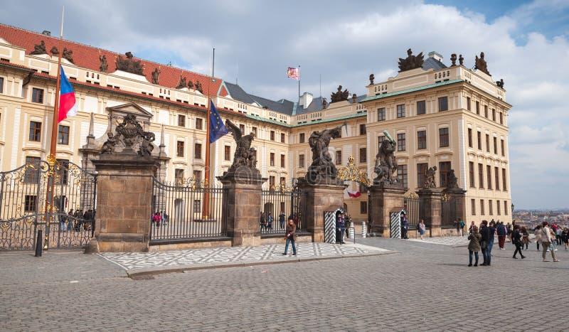 Matthias Gate of Prague Castle. Prague, Czech Republic - May 1, 2017: Matthias Gate of Prague Castle. It is the official office of the President of the Czech stock image