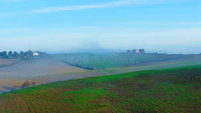 Mattina alla Toscana, Italia fotografia stock libera da diritti