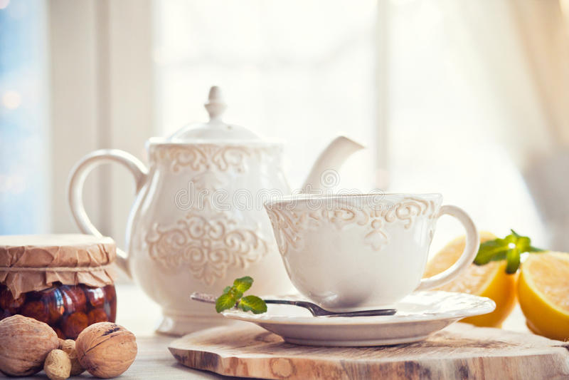 Mattina del tè immagini stock