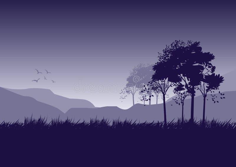 Mattina della foresta royalty illustrazione gratis