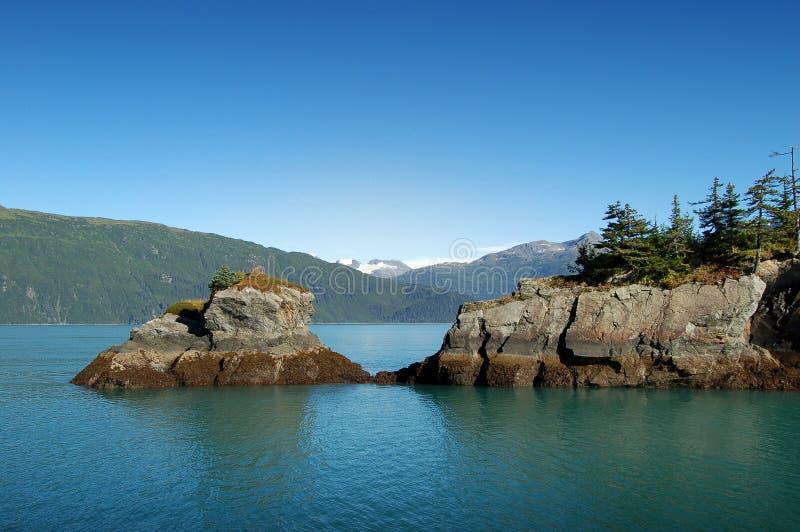 Mattina della montagna nell'Alaska immagine stock