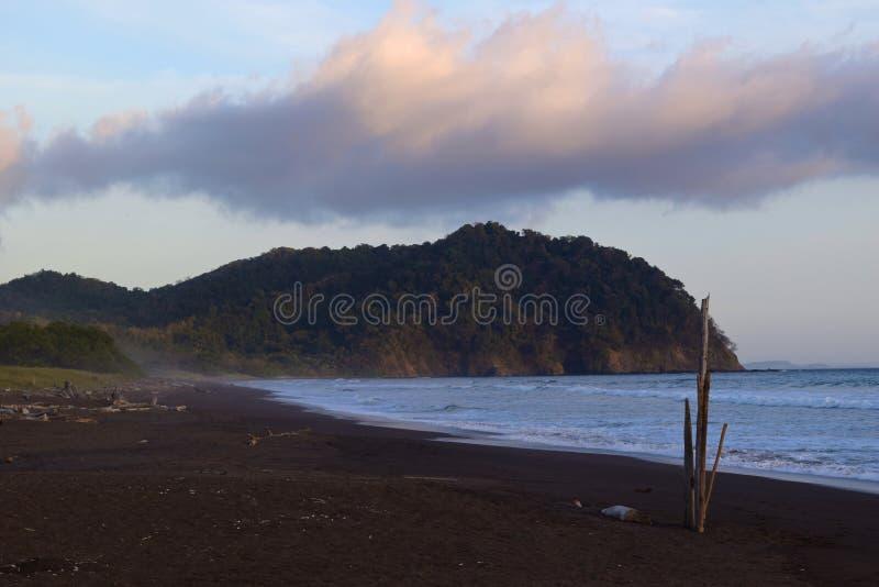 Mattina della spiaggia di Camaronal fotografia stock