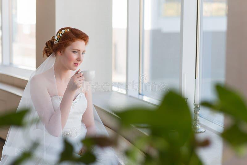 Mattina della sposa immagine stock