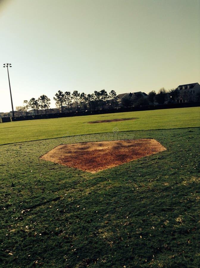 Mattina di baseball fotografia stock libera da diritti
