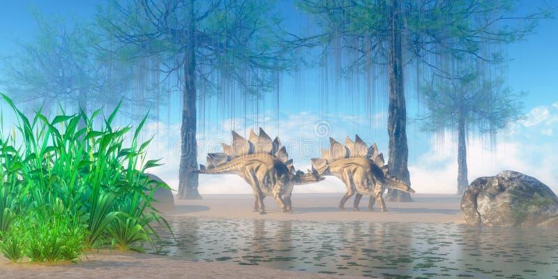 Mattina di stegosauro illustrazione di stock