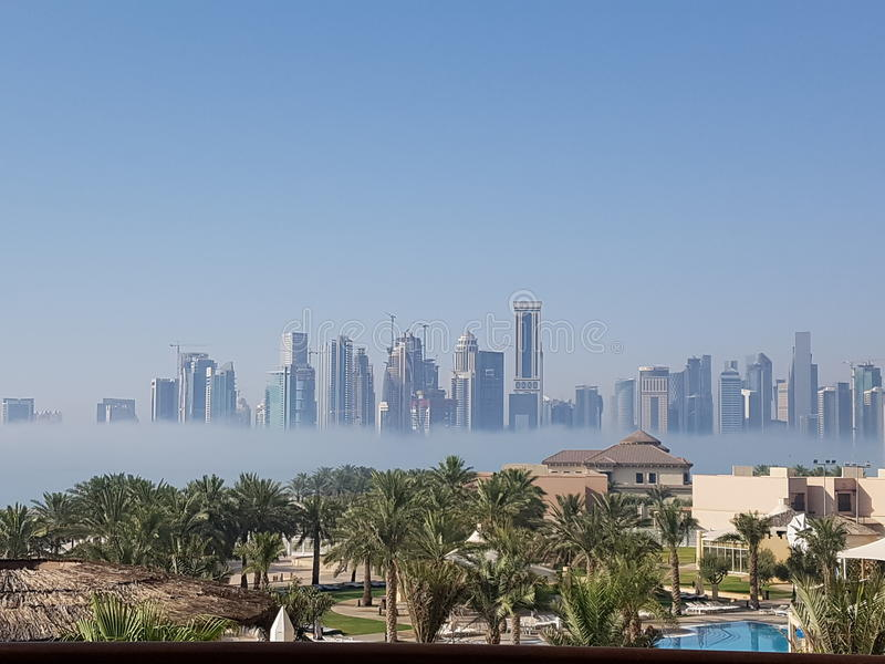 mattina a Doha immagini stock