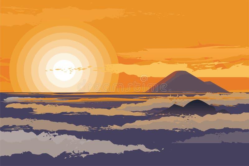 Mattina e pomeriggio di scena di tramonto e di alba scenary immagine stock