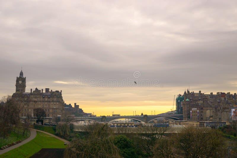 Mattina a Edimburgo fotografie stock libere da diritti