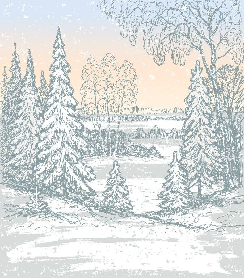 Mattina gelida illustrazione vettoriale