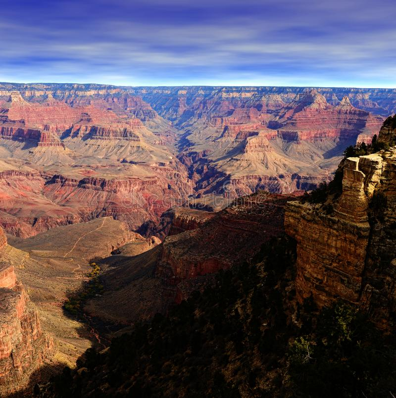 Mattina media Grand Canyon Arizona fotografia stock